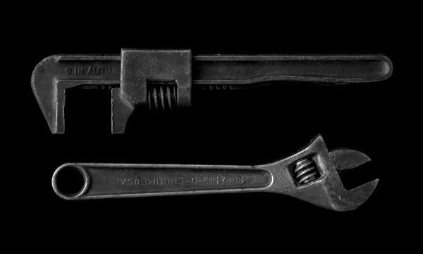 Foto von einem Armaturenschlüssel